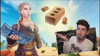 Fortnite win only using Brick...