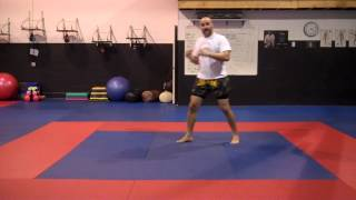 Muay Thai and Boxing footwork and evasions Tutorial 1.