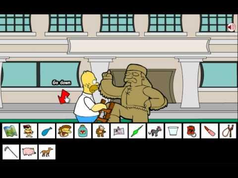 Homer Simpson saw game walkthrough