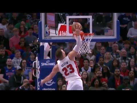 Blake Griffin's First Dunk as a Piston