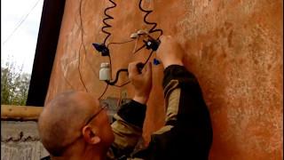видео Ввод электричества в деревянный дом