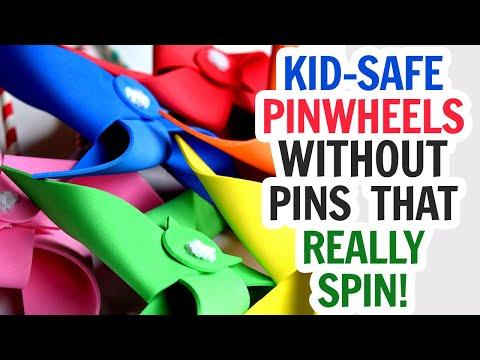 DIY Safe Pinwheels - Pin Free Pinwheels That Really Spin!