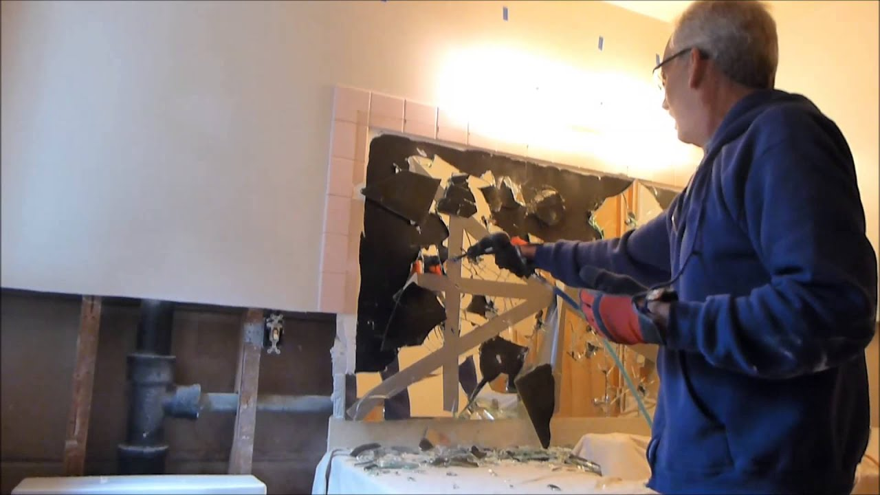 Bathroom Mirror Removal removing a bathroom mirror - youtube