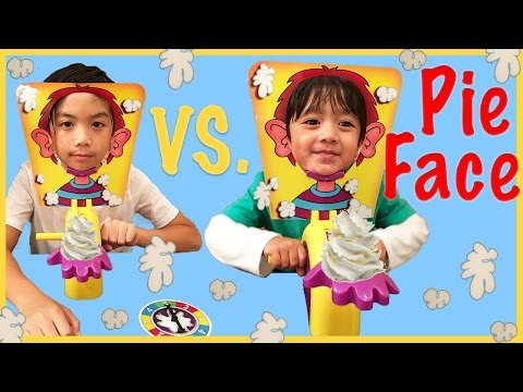 Pie Face Challenge Whip Cream in the face Family Fun Game for Kids Egg Surprise Toys