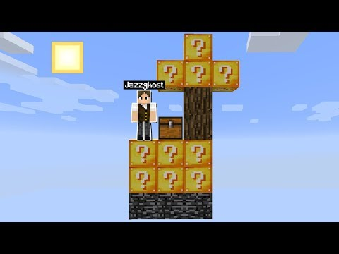 Minecraft: SOBREVIVENDO NA MENOR ILHA DE LUCKY BLOCK DO MUNDO! É POSSÍVEL?