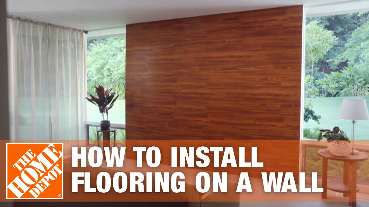 Flooring on the Wall | The Home Depot