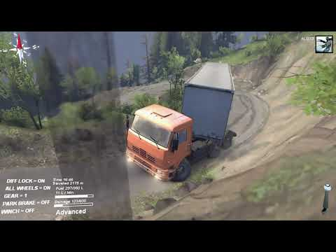 SPINTIRES -2021 -- The Hill Map -- C 6522 Truck + Trailer  