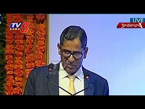 State Level Judicial Officers Conference | SC Justice NV Ramana Speech | Hyderabad | TV5 News