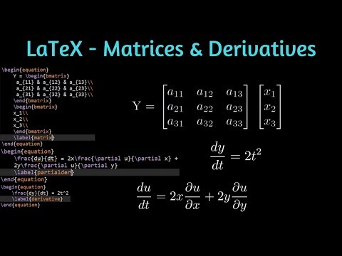 How to write Matrices and Differential Equations in LaTeX | Share Latex |  Learn LaTeX 08