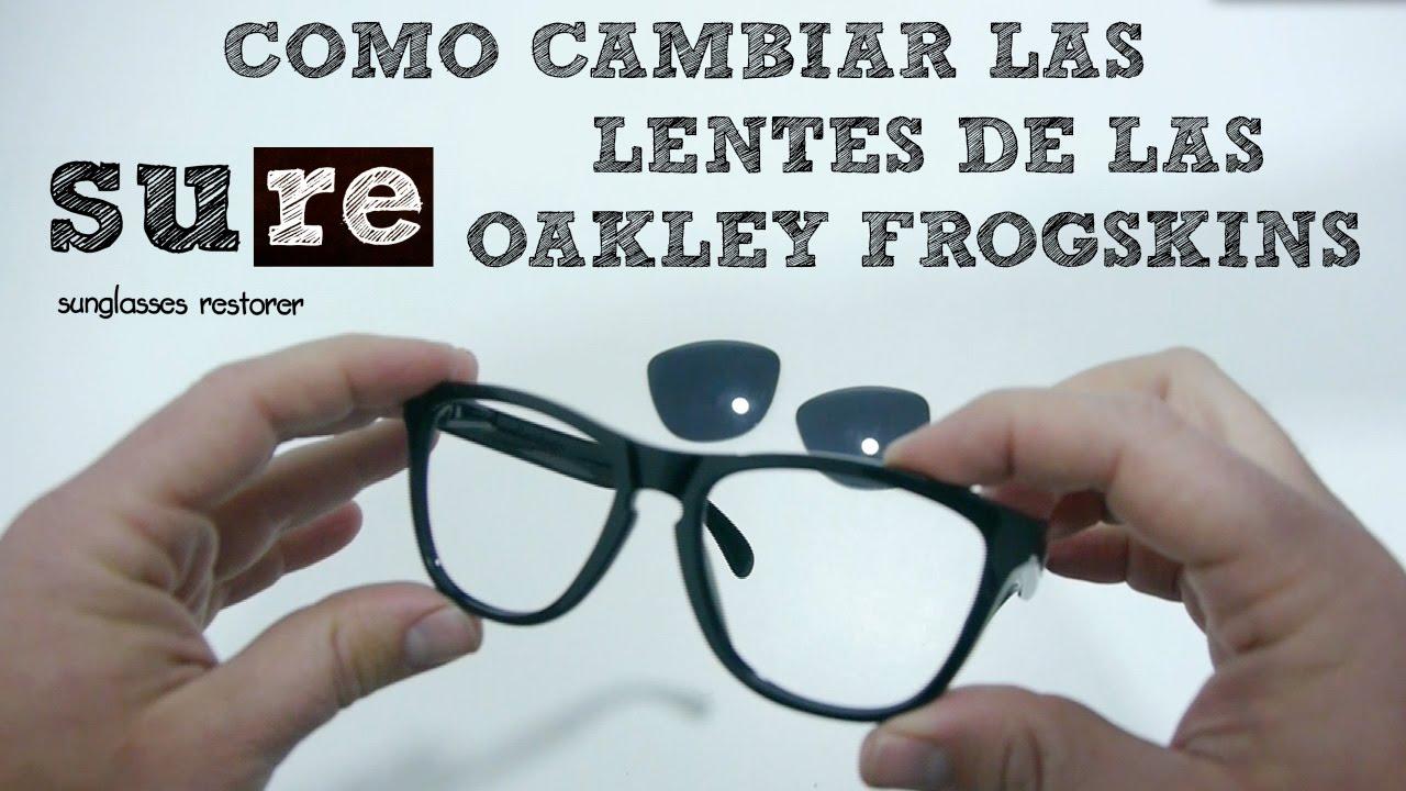 Lentes Oakley Frogskins – Cómo cambiar los cristales - YouTube
