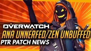 Overwatch | Ana UNNERFED Zenyatta UNBUFFED (?) - PTR Patch News