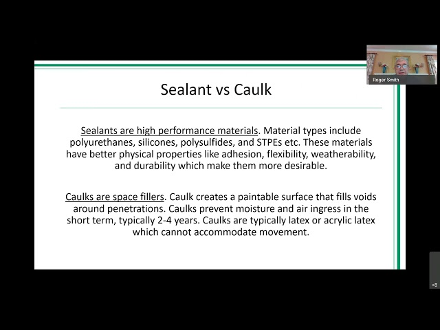 AIA Construction Joint Sealants Presentation By Roger Smith