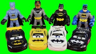 imaginext replica batman disney pixar cars bat car lightning mcqueen battle replica joker
