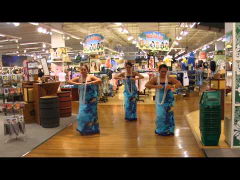 Hula Dancing at the Hilo Hattie Store in Honolulu,Hawaii on 9.26.13