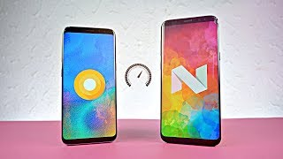 Samsung Galaxy S8 Android 8.0 Oreo vs 7.0 Nougat - Speed Test!