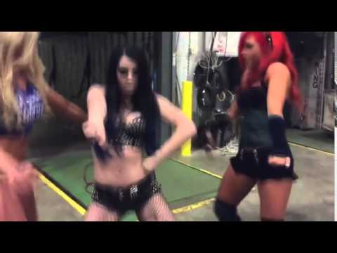 PAIGE DANCING TO...STONE COLD STEVE AUSTIN THEME SONG!