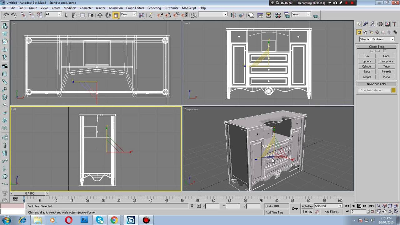 3d max modeling furniture tutorial - YouTube