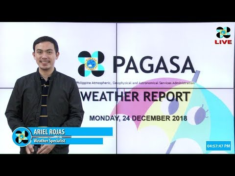 Public Weather Forecast Issued at 4:00 PM December 24, 2018