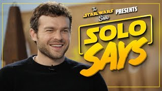 solo a star wars story cast pronounces star wars words and names the star wars show extra