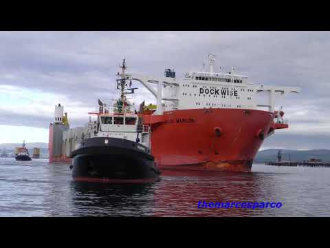 blue marlin in Cromarty Firth 2018.Parts for aberdeen harbour project