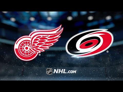 Helm, Mrazek power Red Wings past Hurricanes, 4-1