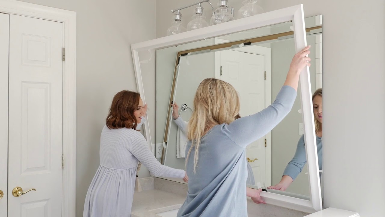 Mirror Frame Kits Mirror Frame Installation Is Easy With