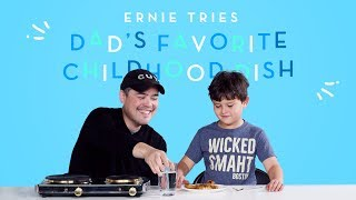 Ernie Tries His Dad 39 s Favorite Childhood Dish Kids Try HiHo Kids