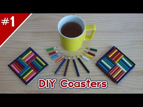 DIY Colored Pencil Coasters! - Part 1 of 2