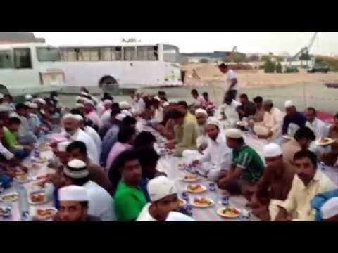 Ramadan - Charity Iftar (breaking the fast) at Labour Camps