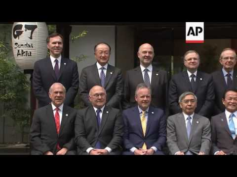 G7 finance ministers pose for family photo