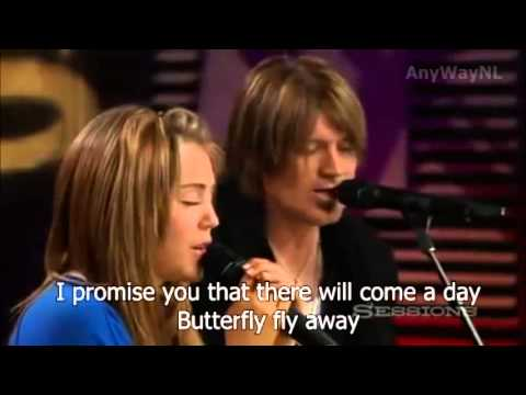 Miley Cyrus ft. Billy Ray Cyrus - Butterfly Fly Away | Lyrics in video!