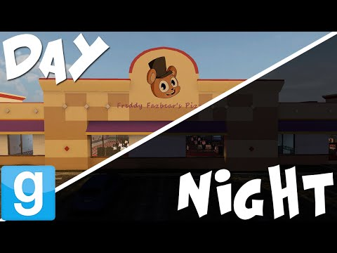 FREDDY FAZBEARS PIZZA DAY AND NIGHT | Gmod Five Nights at Freddys Maps! | Sandbox Funny Moments