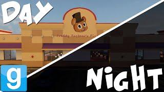 FREDDY FAZBEAR'S PIZZA DAY AND NIGHT | Gmod Five Nights at Freddy's Maps! | Sandbox Funny Moments Free HD Video