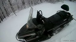 Yamaha rs viking 1000, driving downhill on the powder snow and over the snowdriftes, Crni Vrh Serbia