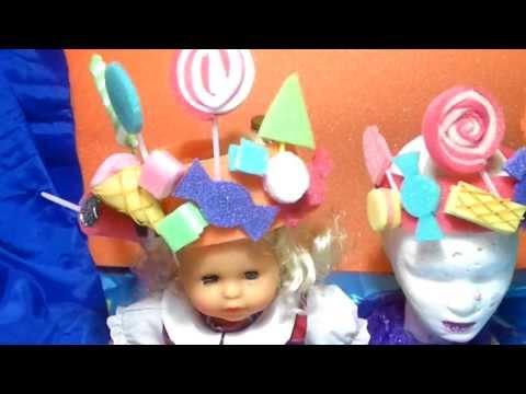 Vincha con Caramelos para Fiestas Infantiles (Gorro de Goma Espuma)
