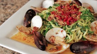 """How To Make Diy Diabetic Zucchini Seafood Pasta """"valentine's Day Recipe"""" 