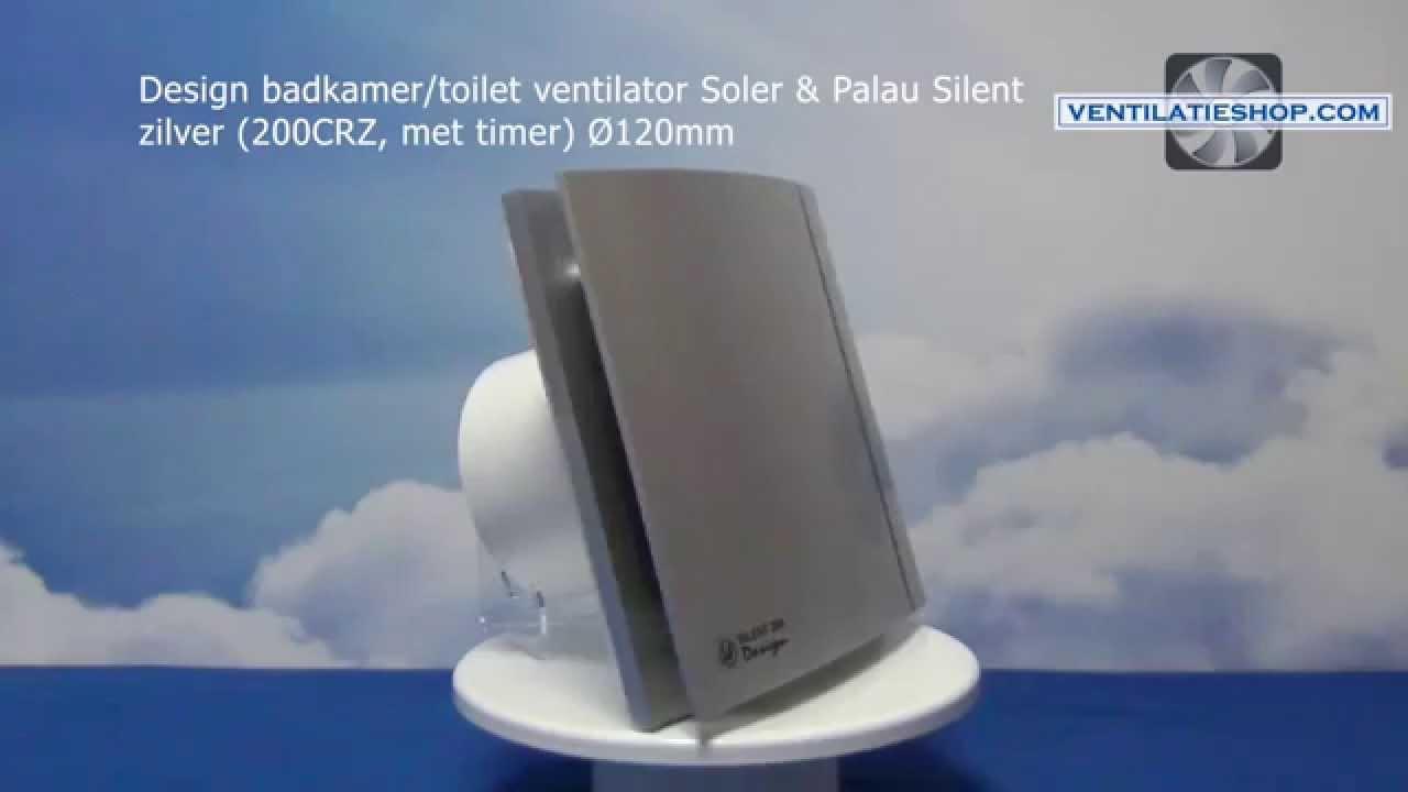 Ventilatie Voor Badkamer : Design badkamer toilet ventilator soler palau silent zilver
