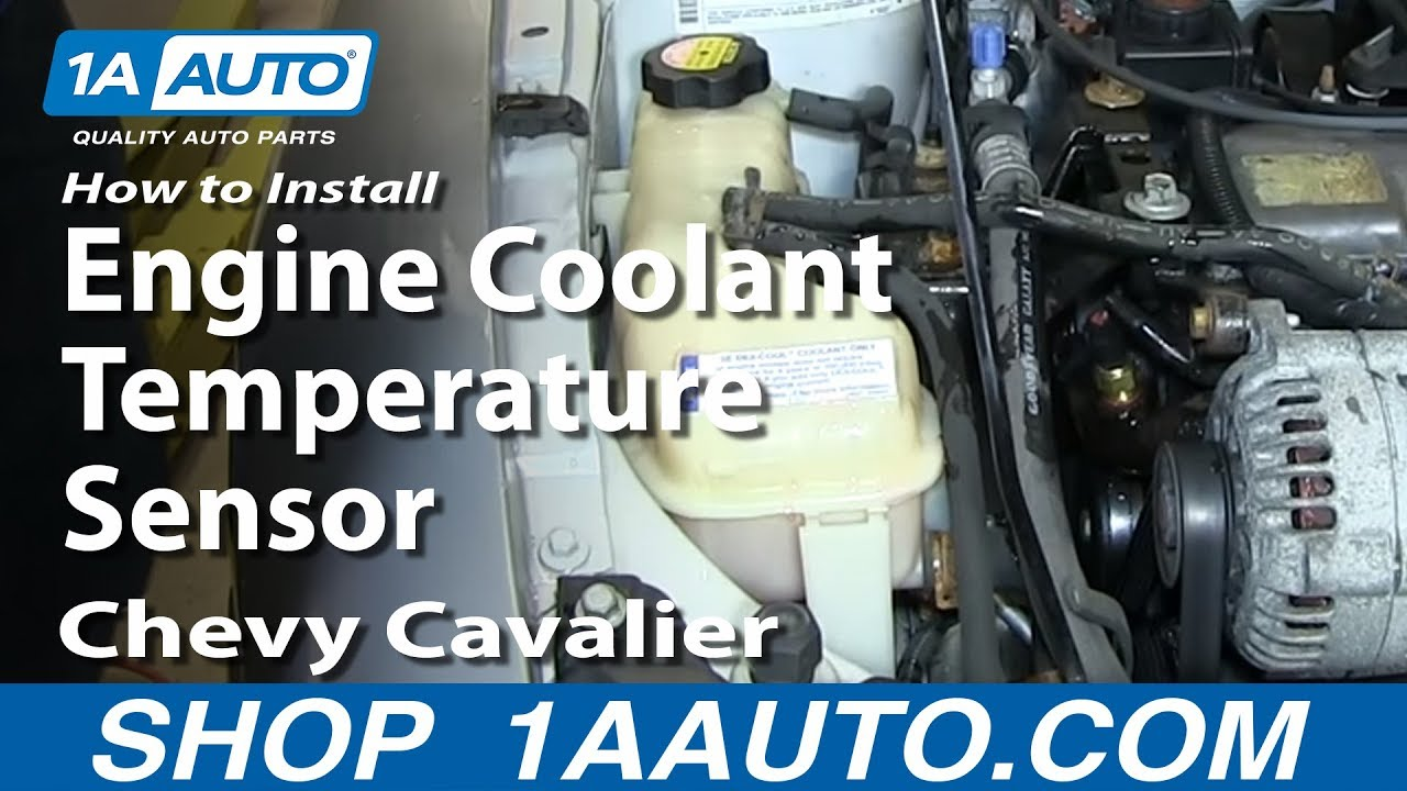 how to install replace engine coolant temperature sensor