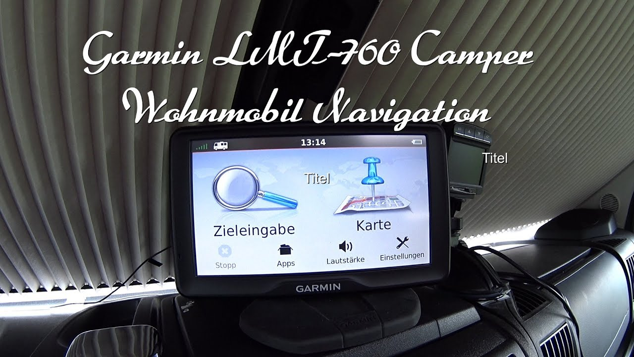 Garmin LMT-8 Camper Wohnmobil Navigation - YouTube