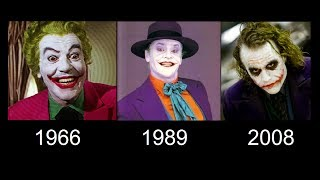 The Joker transformation in movies (1966 - 1989 - 2008)- [Compilation movies]