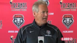 2014 Lobo Football | Coach Bob Davie: Spring Football Press Conference