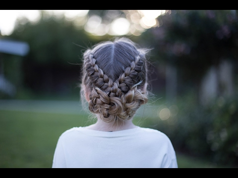 flip over braid athletic hairstyle