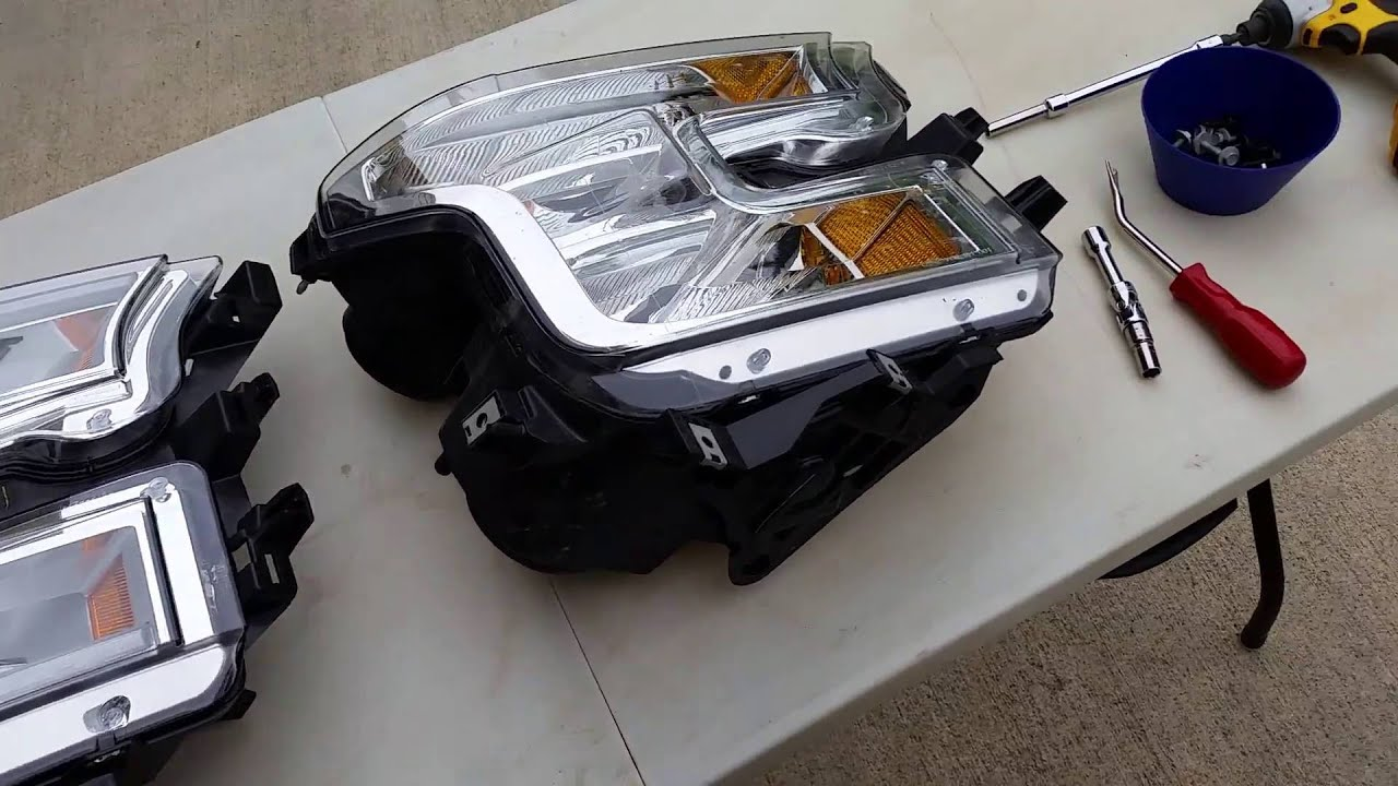 Led Headlight Swap On 2015 Ford F150 Youtube Wiring Harness