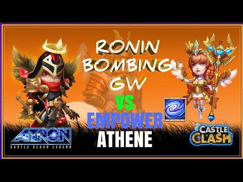RONIN + MIKE VS EMPOWER ATHENE ON GUILD WARS DEFENCE - CASTLE CLASH