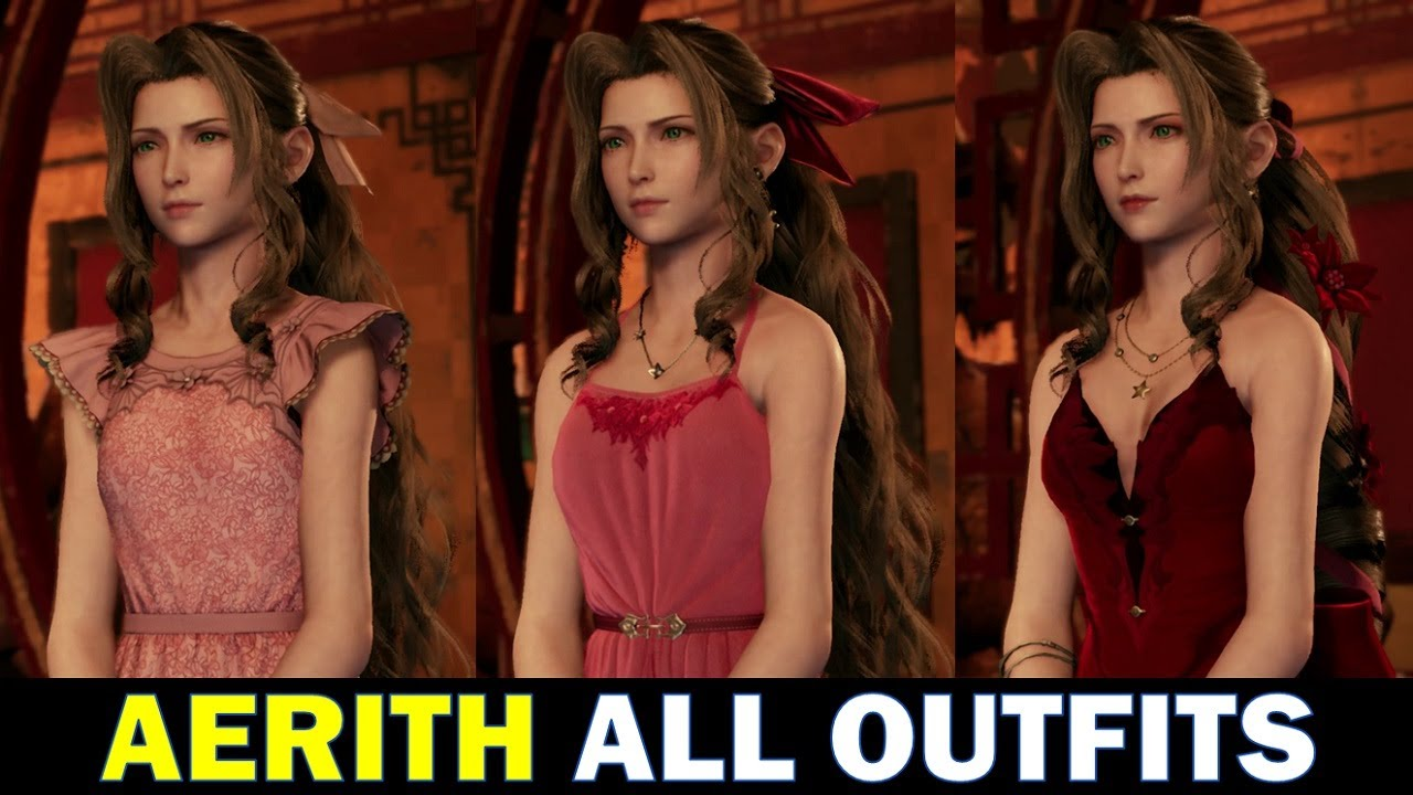 Aerith All Dresses and How to get them   Final Fantasy 20 Remake FF20  Chapter 20