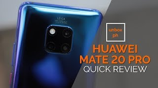 huawei mate 20 pro hands on quick review crushing the competition?