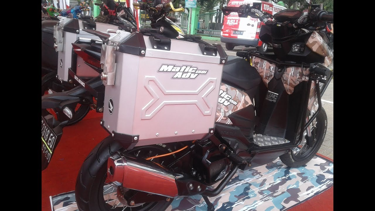 Matic Touring Style Modifikasi Vario 150 Kontes Terbaru YouTube