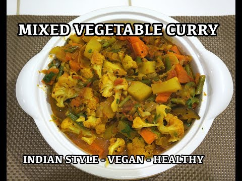 Super Easy Vegetable Curry Recipe - How to cook Veg Masala - Vegan Vegetarian