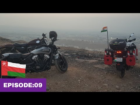 "Kerala to Europe | EP:09| Riding to ""Amerat Heights "" with Oman bikes / അടിപൊളി മല"
