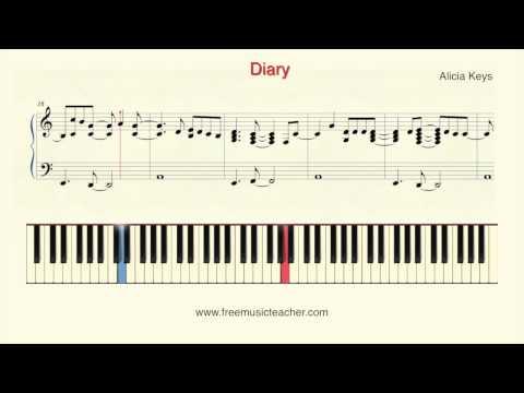 How To Play Piano: Alicia Keys Diary Piano Tutorial  Ramin Yousefi